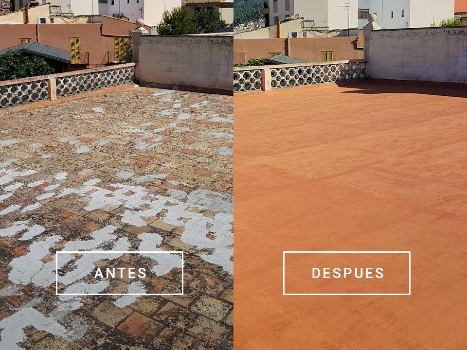 Renovierung und Isolierung einer Dachterrasse in Andratx, Mallorca