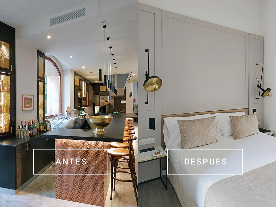 Construction of new design hotel rooms in Palma de Mallorca center