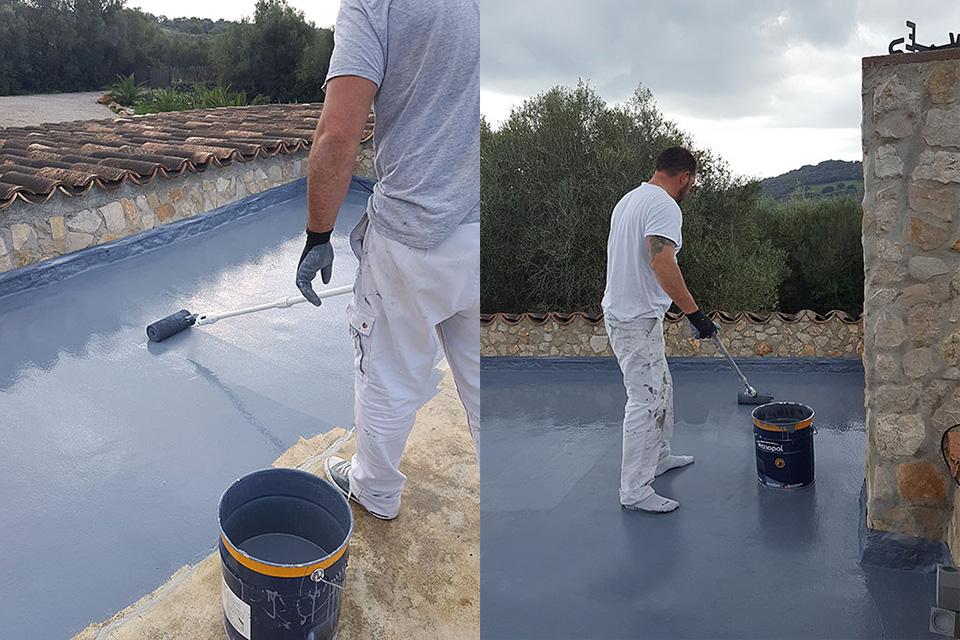 Aislamiento a base de resina epoxi de terraza en Son Servera, Mallorca
