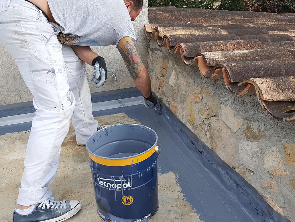 Impermeabilización de bordes de terraza en Son Servera, Mallorca