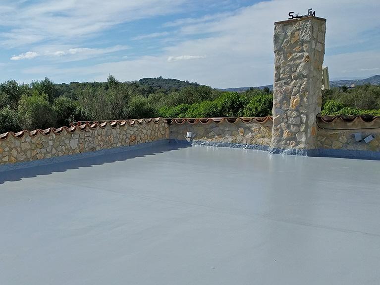 Renovierung und Isolierung einer Dachterrasse in Son Servera, Mallorca